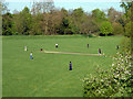 TQ4287 : Playing cricket, Wanstead Park by Robin Webster
