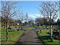 TQ6478 : Path in St Mary's Cemetery by David Anstiss