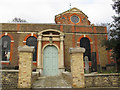 TQ1877 : St Anne's church, Kew: south door by Stephen Craven