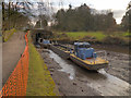 SJ9689 : Restoration Work on the Peak Forest Canal at Marple by David Dixon