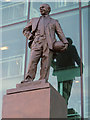 SJ8096 : Sir Matt Busby Statue, Old Trafford by David Dixon