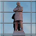SJ8096 : Sir Alex Ferguson Statue, Old Trafford by David Dixon