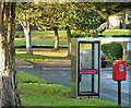 J2765 : Telephone box and letter box, Hilden, Lisburn by Albert Bridge