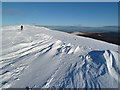 NY2628 : Snow patterns on Skiddaw by Walter Baxter