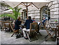 TQ3080 : Open air cafe at the Courtauld Gallery by Anthony O'Neil