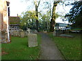 SU7156 : Rotherwick Church- an autumnal churchyard (L) by Basher Eyre