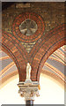TQ2176 : St Michael &amp; All Saints, Barnes - Brickwork by John Salmon