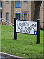 TL2862 : St.Mary's Terrace sign by Adrian Cable