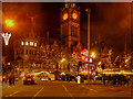 SJ8398 : Manchester Christmas Market Outside the Town Hall by David Dixon