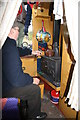 SP0579 : Inside the preserved narrowboat by Chris Allen