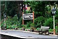 SP0532 : Platform name sign, Toddington Railway Station by nick macneill