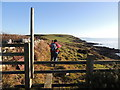 NX2152 : Stairhaven Coastal Path Stile by Billy McCrorie