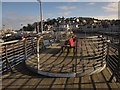 SX9256 : Viewing area, New Pier, Brixham by Derek Harper