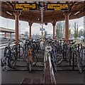 SP3165 : Cycle racks, Leamington Spa Station by David P Howard