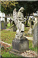TQ2289 : St Mary, Church End, Hendon - Churchyard angel by John Salmon