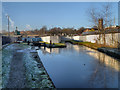 SJ9498 : Huddersfield Narrow Canal, Ashton Lock by David Dixon