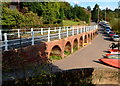 SO7680 : Riverside storage arches, Upper Arley by John Grayson