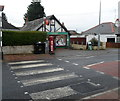 ST1567 : Zebra crossing to Sully Post Office by John Grayson