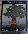 SS8383 : The Royal Oak pub sign, Kenfig Hill by John Grayson