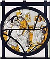 SJ6353 : St Mary, Acton - Stained glass window by John Salmon