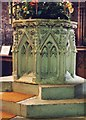 SJ6552 : St Mary, Nantwich - Font by John Salmon