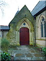 SD9209 : The Parish Church of St Mary, High Crompton, Doorway by Alexander P Kapp