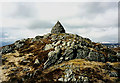 NN5865 : The large summit cairn on Beinn Mholach by Walter Baxter