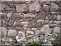 NG8494 : Wall of ruined dwelling, Slaggan by Richard Dorrell