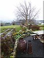 NY9070 : Corner of the garden at Walwick Farmhouse by Oliver Dixon
