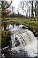 SK3080 : Redcar Brook - the weir by Neil Theasby