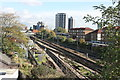 TQ3983 : Railway line, Plaistow by Nigel Chadwick