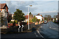 SE6821 : Station Road with War Memorial by Trevor Littlewood