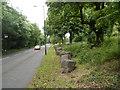ST5477 : Line of boulders alongside Shirehampton Road, Bristol by Jaggery