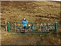 NJ3828 : Gate on main road for Bank Farm by Richard Doake