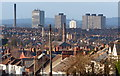SK6103 : View across the rooftops of Highfields by Mat Fascione