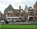 SJ4066 : Half-timbered shops... by Bill Harrison