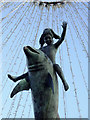 TQ3104 : The Dolphin Fountain (detail), Brighton by Roger  Kidd
