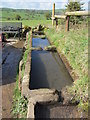 SK2161 : Water troughs, Cliff Lane, Elton, Derbyshire by Colin Park