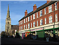 SK5879 : Worksop - church and shops on Gateford Road by Dave Bevis