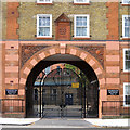 TQ2983 : Gated entrance, Goldington Buildings, NW1 by Robin Stott