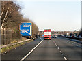 SU4421 : Northbound M3 at Junction 12 by David Dixon