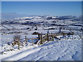 SN9874 : Pan- y-dwr and the Marteg Valley in winter by peter barnes