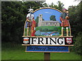 TF7334 : Village sign at Fring, Norfolk by Colin Park