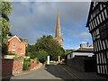 SO7137 : At Ledbury - Entrance drive to St Michael & All Angels Church by Colin Park
