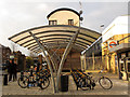 TQ2975 : Clapham High Street station cycle parking by Stephen Craven