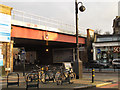 TQ2975 : Railway bridge over Clapham High Street  by Stephen Craven