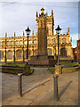 SD5805 : War Memorial and Wigan Parish Church by David Dixon