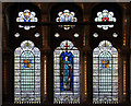 TQ3081 : St George, Queen Square - Stained glass window by John Salmon