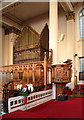 TQ3081 : St George, Queen Square - Organ &amp; pulpit by John Salmon