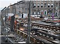 NT2574 : Work in progress on Edinburgh's tramlines by Jim Barton